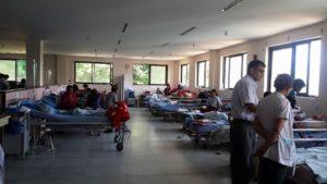 病院内部です。5月に入ってからの撮影です。救急患者の受け入れ、手術やICUなどの強化を行っています。