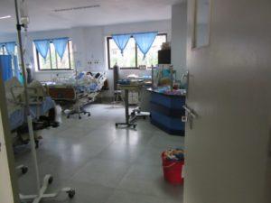 ICUの中です