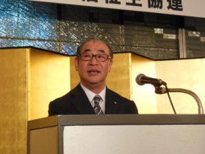 日本生協連の朝田克己代表理事会長の開会あいさつです